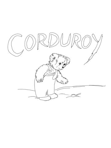 corduroy is looking for button coloring page supercoloring com