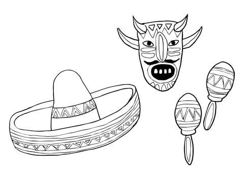 mask and maracas supercoloring com