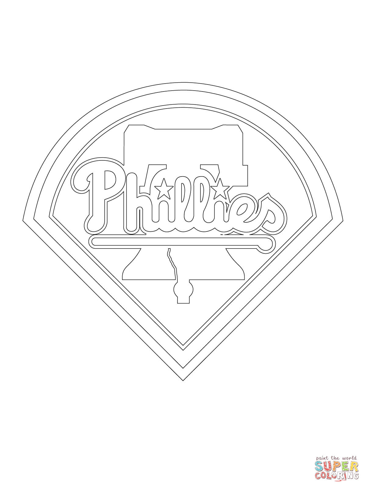 Phillies Colouring Pages Cake Ideas And Designs