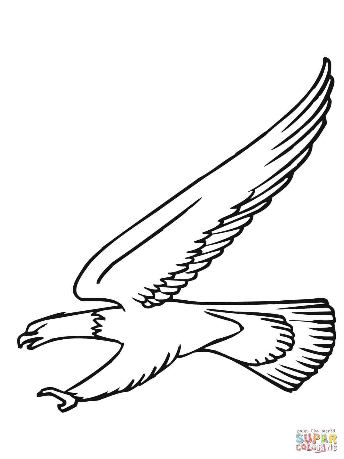 bald eagles colouring pages page 2