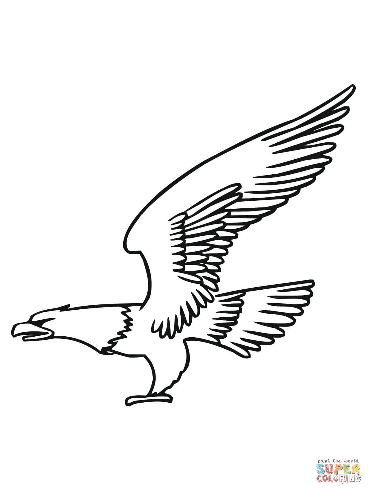 bald eagle coloring page printable