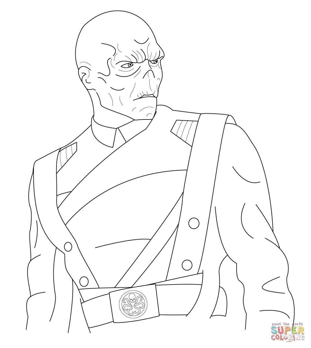 red skull with gun colouring pages