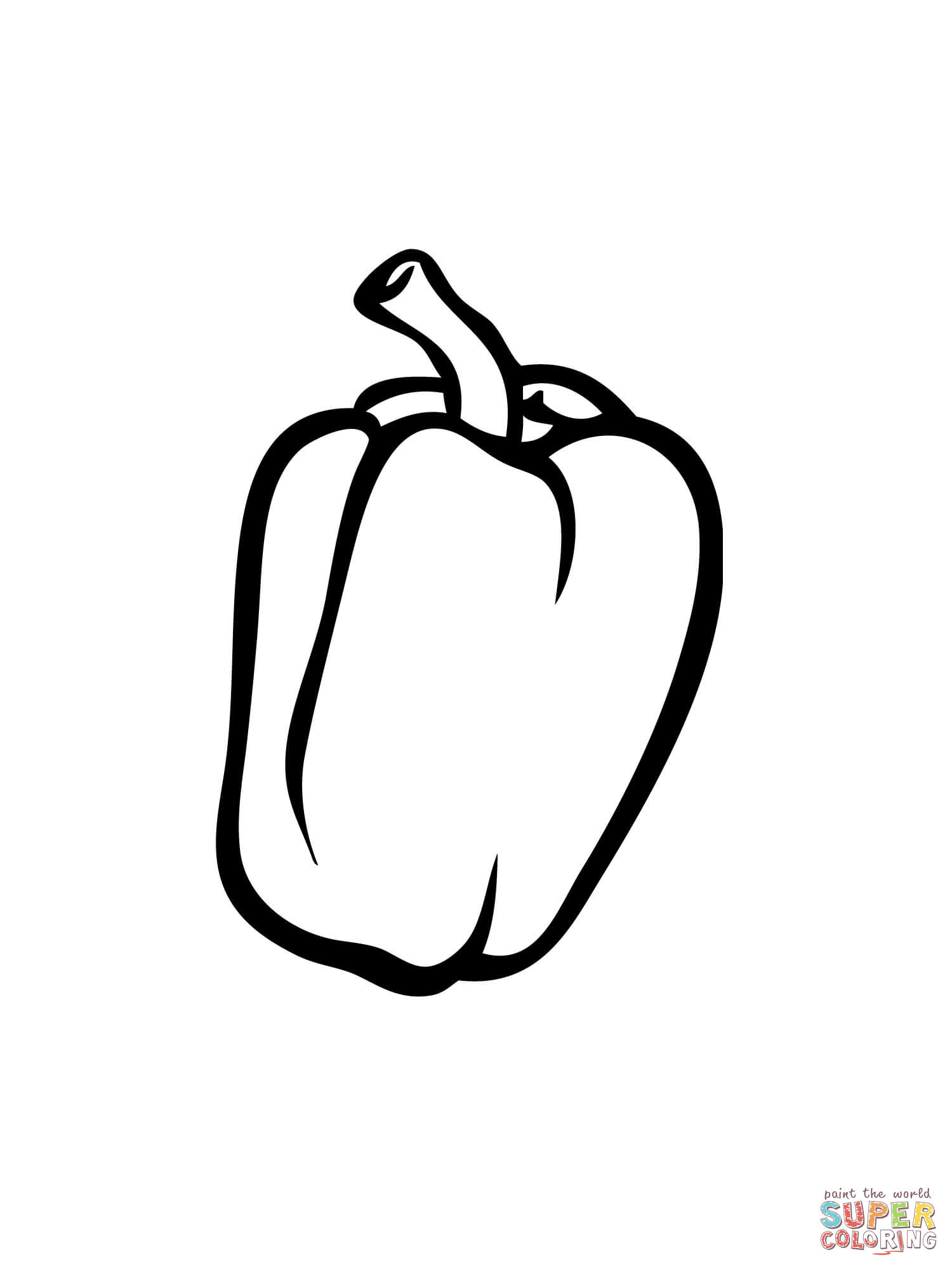 Bell Pepper Coloring Online