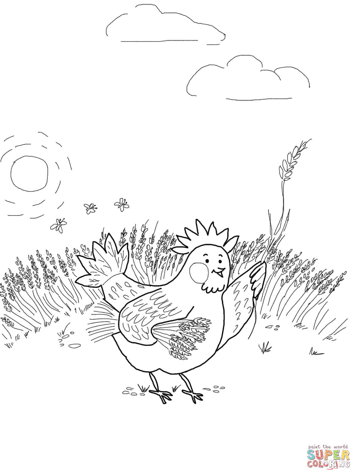 Free Worksheet Little Red Hen Worksheets the little red hen coloring pages az page www pavingmaze com gathering wheat online super