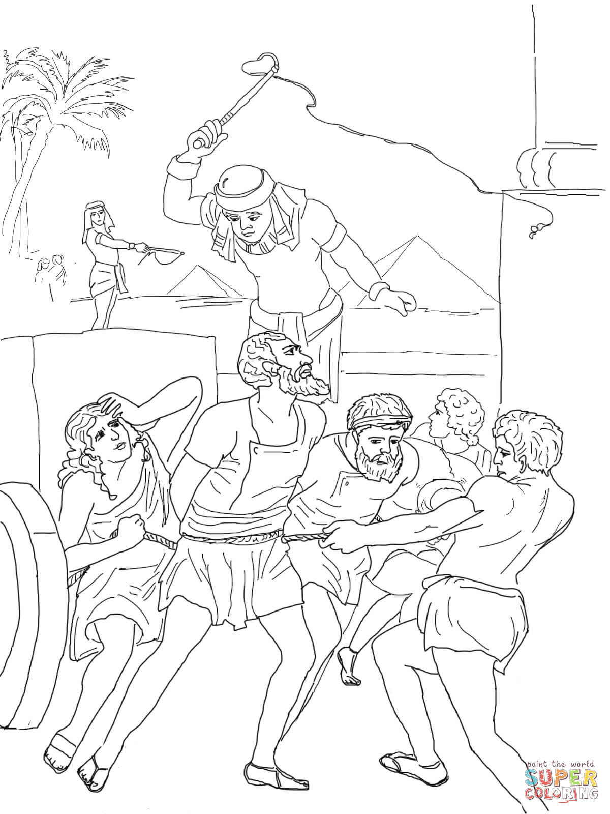 The Bible Israelites Leaving Egypt Coloring Pages Sketch Coloring Page