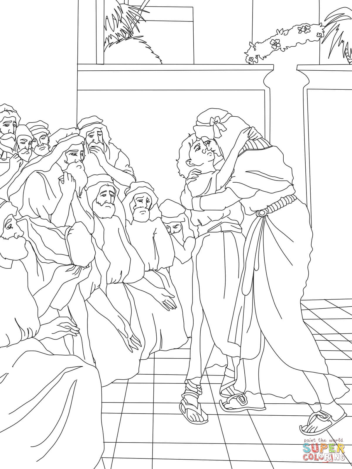 Joseph Forgives His Brothers Coloring Page Pixels