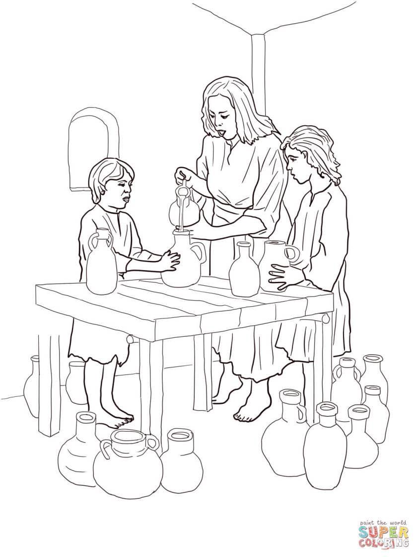 elijah and widow coloring sheet coloring pages