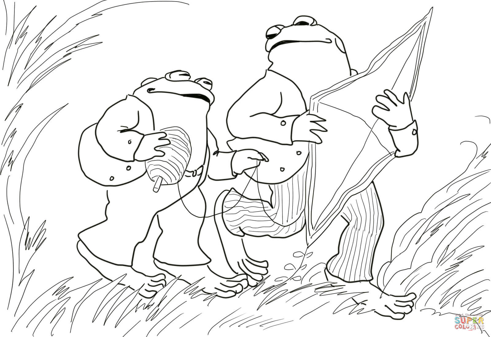Frog And Toad Coloring Sheets Coloring Pages