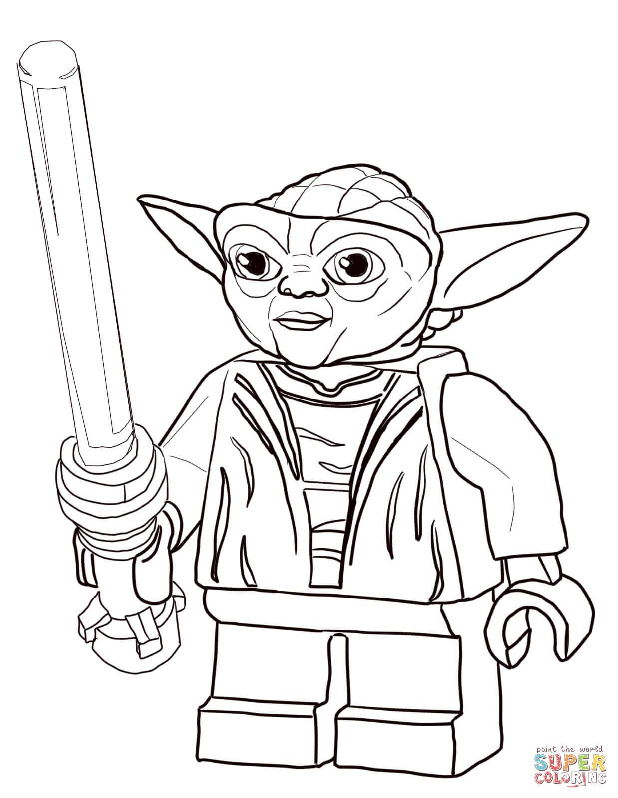 lego star wars master yoda coloring online super coloring