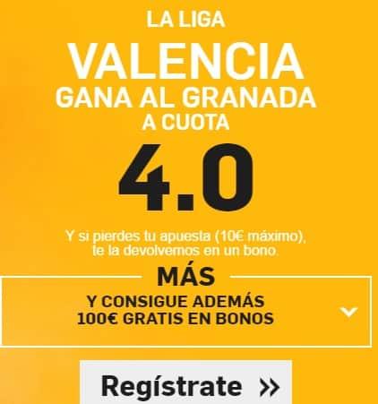 supercuota betfair Valencia-granada