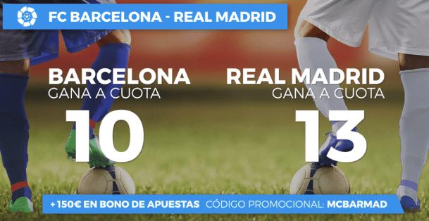 Supercuotas paston El Clásico Barcelona - Real Madrid