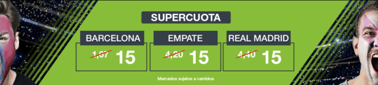 Supercuotas Codere EL Clásico FC Barcelona - Real Madrid