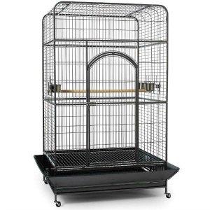 Flat Top Bird Cage for Large Parrots by Prevue 3157 Silverado Black