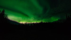 The Aurora Borealis over Fairbanks