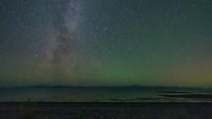 Milky Way over Cook Inlet