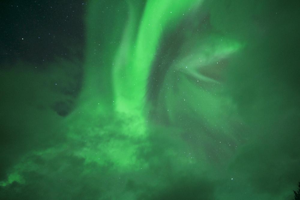 Bright aurora in Talkeetna