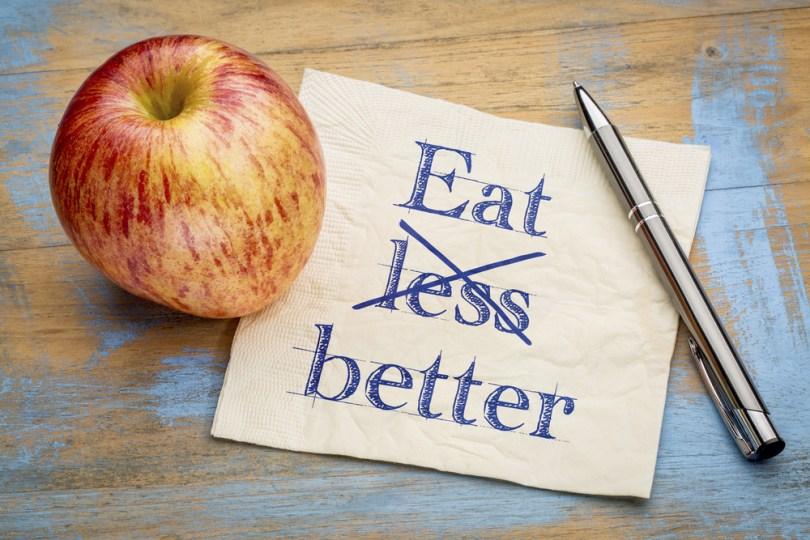 Syö vähemmän niin laihdut?