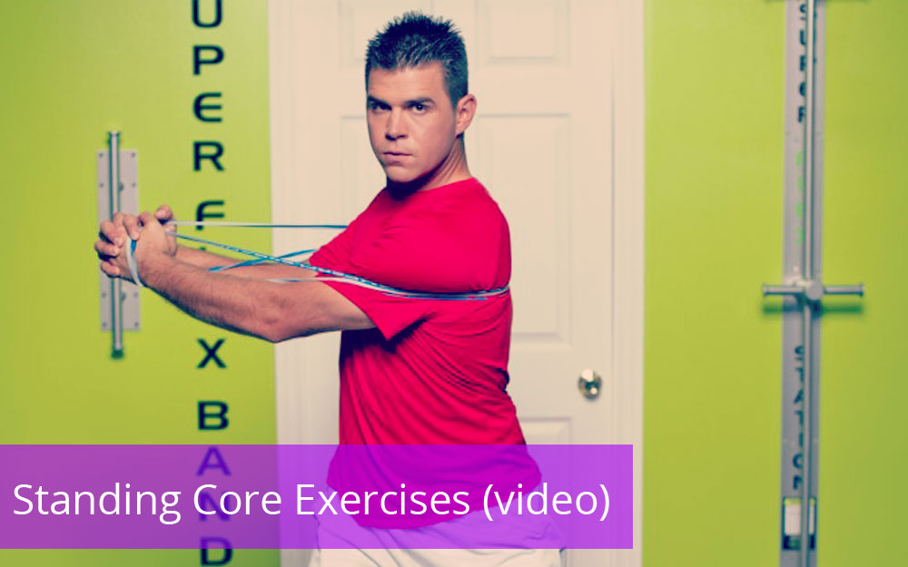 Standing Core Exercises - Resistance Band Training