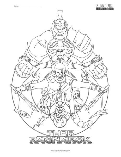 thor coloring page # 18