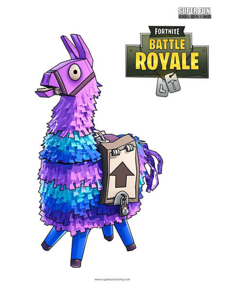 Llama Fortnite Coloring Page - Super Fun Coloring