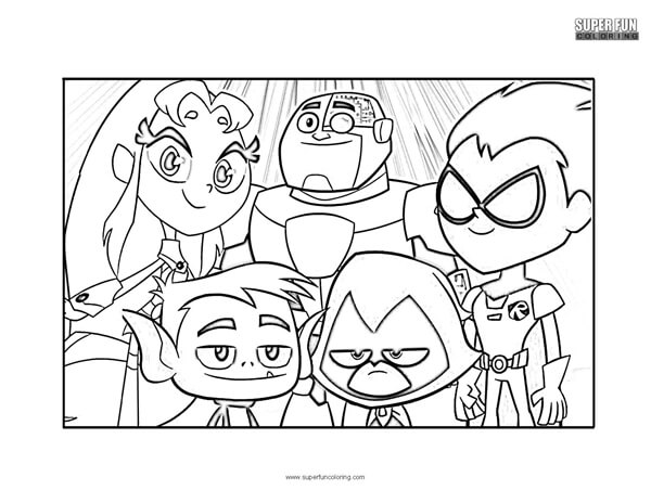 Teen Titans Go Coloring Page Super Fun Coloring