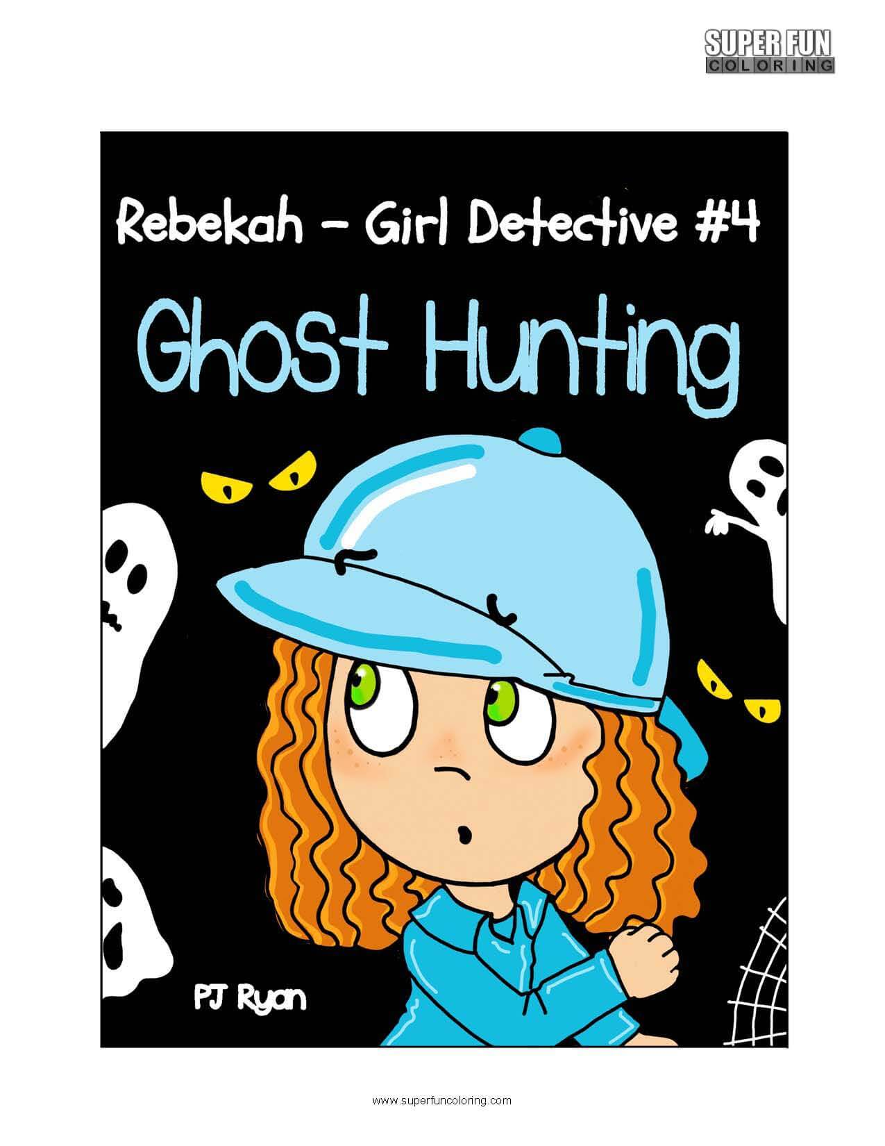 Rebekah Girl Detective Coloring Page