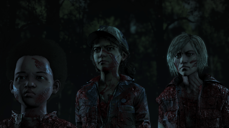 Walking Dead Episode 3 Blood Covered