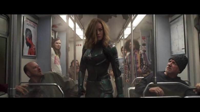 Captain Marvel Subway Aftermath
