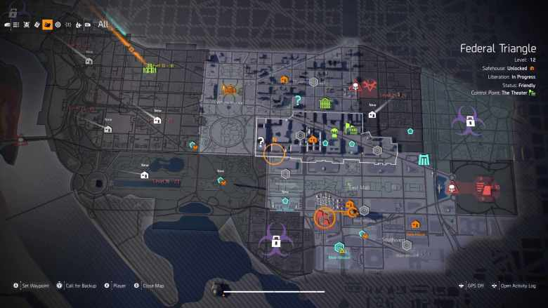 The Division 2 Main Map