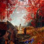 God of War Kratos and Atreyus Entering Witch's Woods