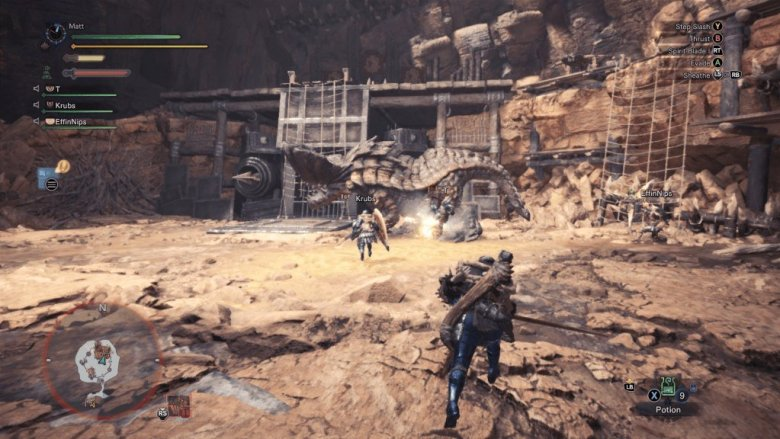 Monster Hunter World Fighting in Arena