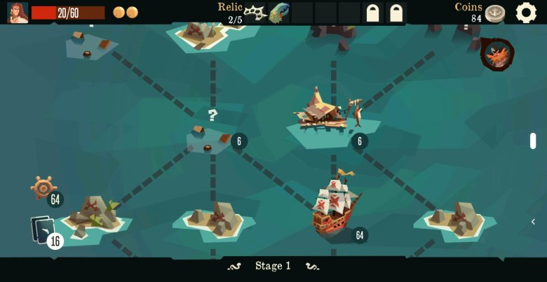 Pirates Outlaws Map Screen