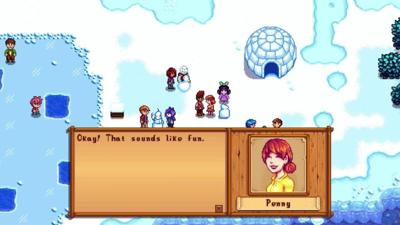 Stardew Valley Talking to Penny