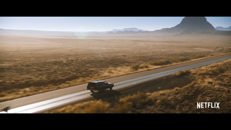 El Camino Driving Through the Desert