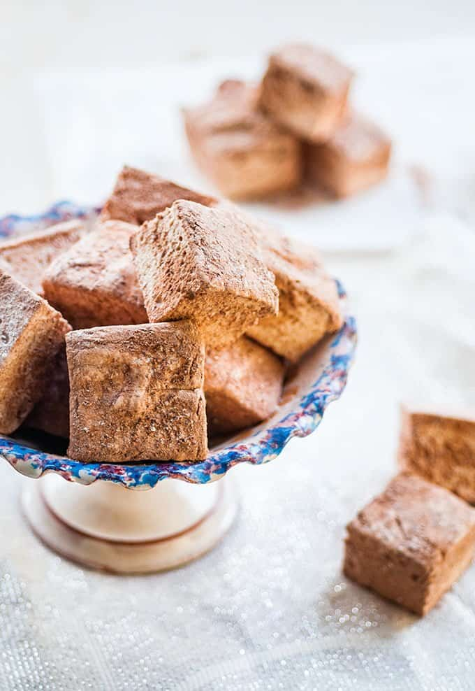 Homemade gingerbread marshmallows are a revelation – wonderfully soft, fluffy and delicious, they make the perfect edible gift.