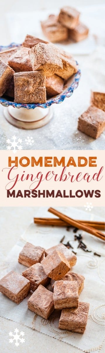 Homemade gingerbread marshmallows are a revelation – wonderfully soft, fluffy and delicious, they make the perfect festive edible gift.