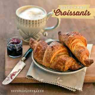 These croissants use a quick-method dough which is great for beginners. Well worth the effort!