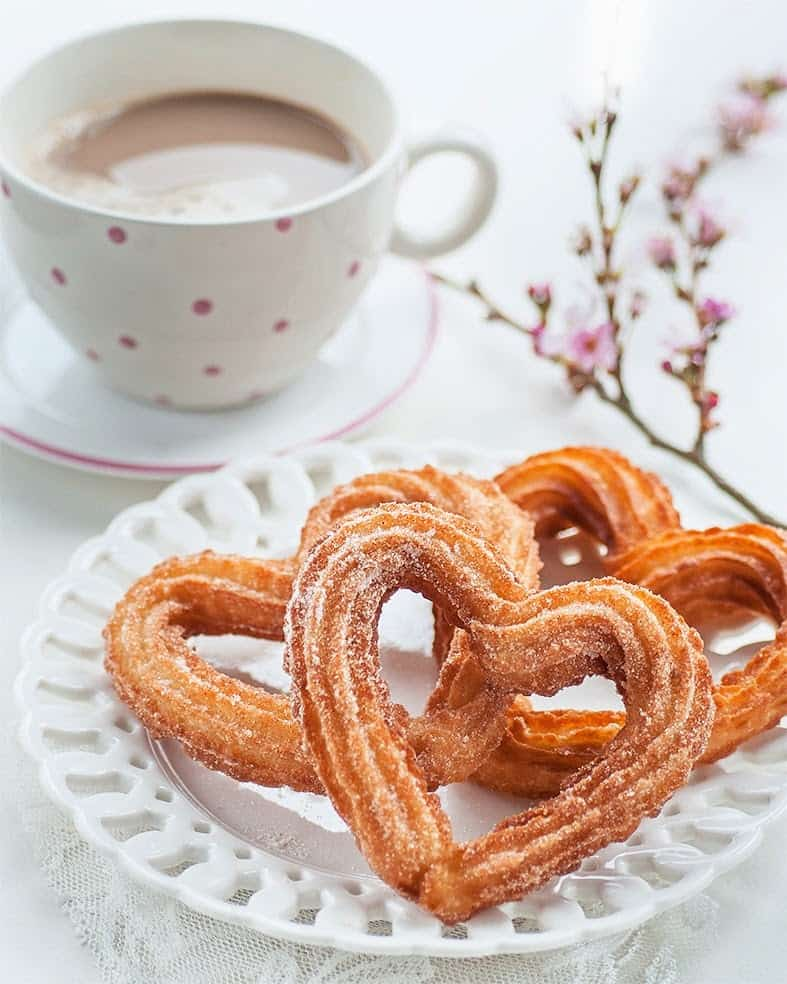 heart-shaped churros