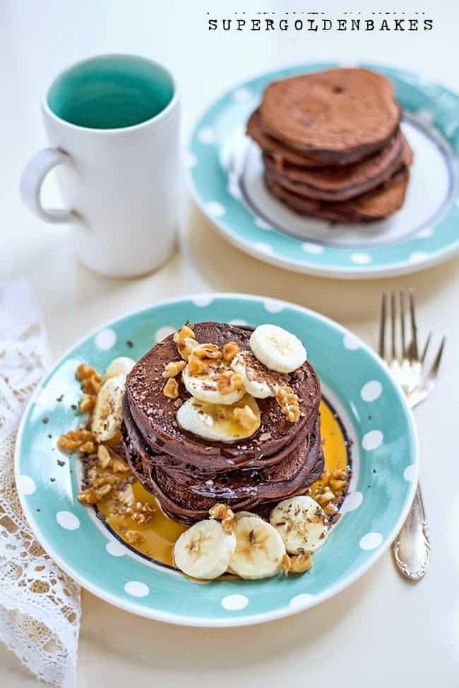 supergolden bakes: chocolate pancakes