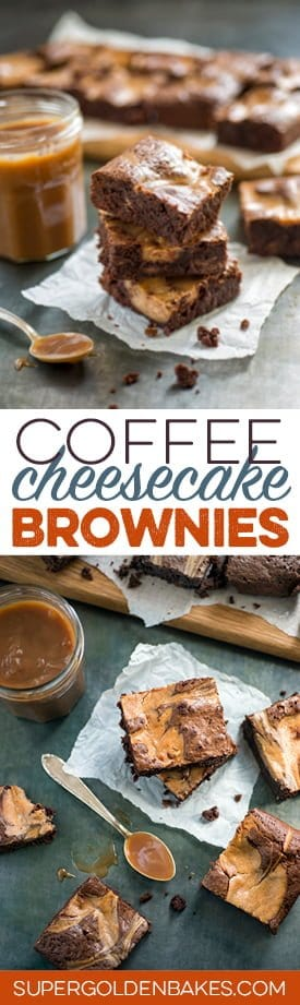Intensely chocolatey, with a hint of coffee and cheesecake caramel swirls, these brownies certainly have plenty of wow factor!