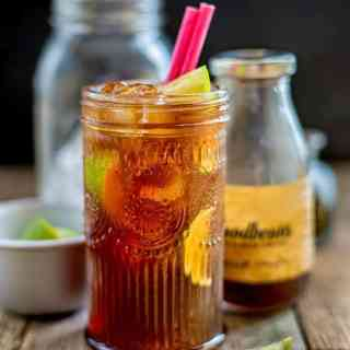 Long Island Iced Coffee - a potent coctail made with five spirits plus cold brew coffee and ginger beer. Potent and refreshing!