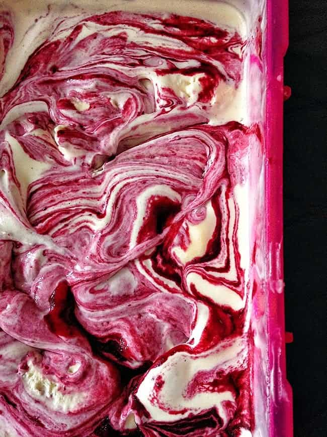 buttermilk and blackberry ice cream