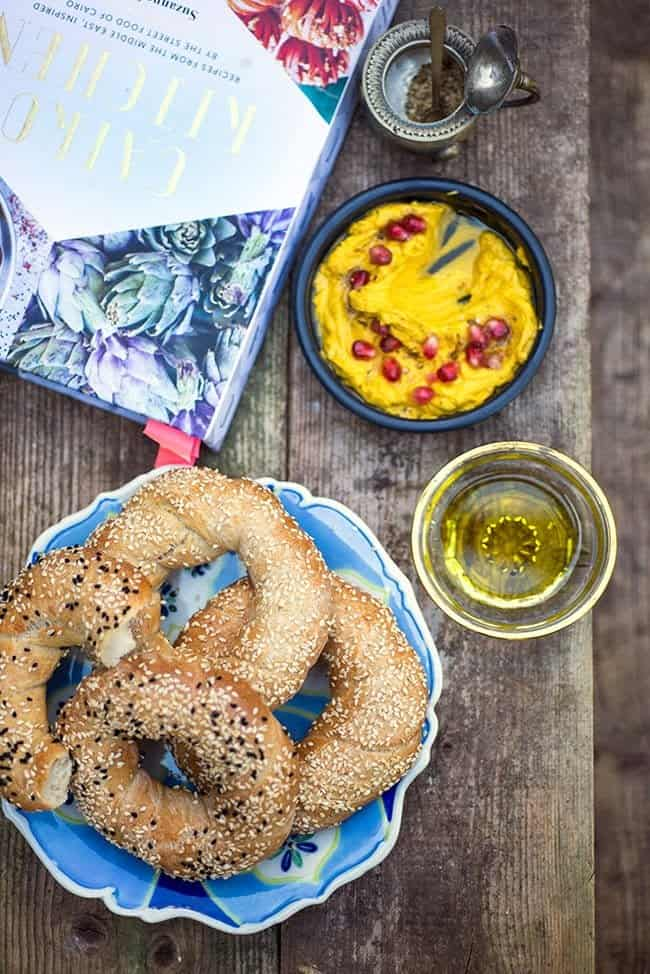 Simit and carrot hummus - Cairo Kitchen book review