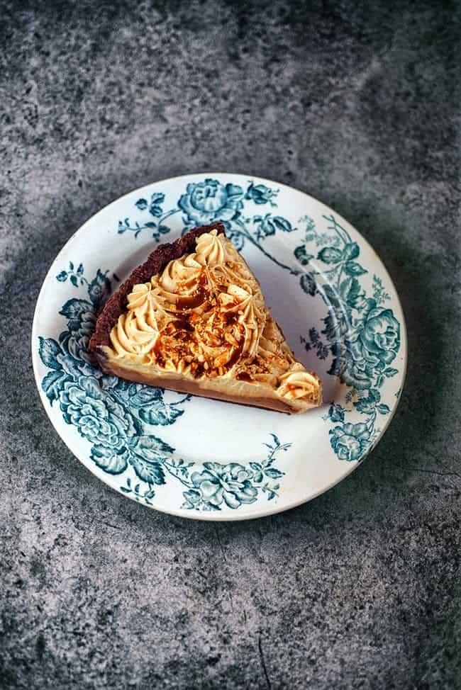 Chocolate & Peanut Butter Mousse Pie