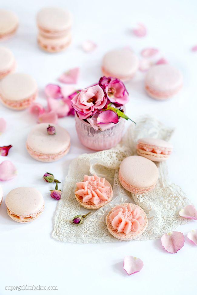 Beautiful Rose Macarons