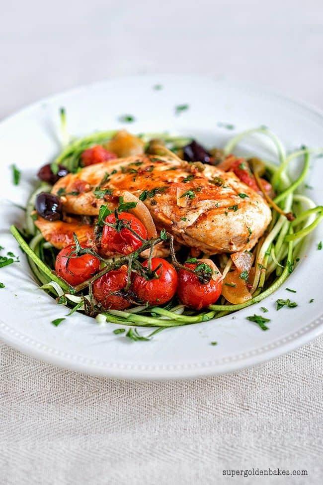 Low-carb chicken puttanesca recipe
