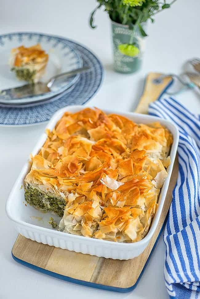 Easy spanakopita (spinach pie)