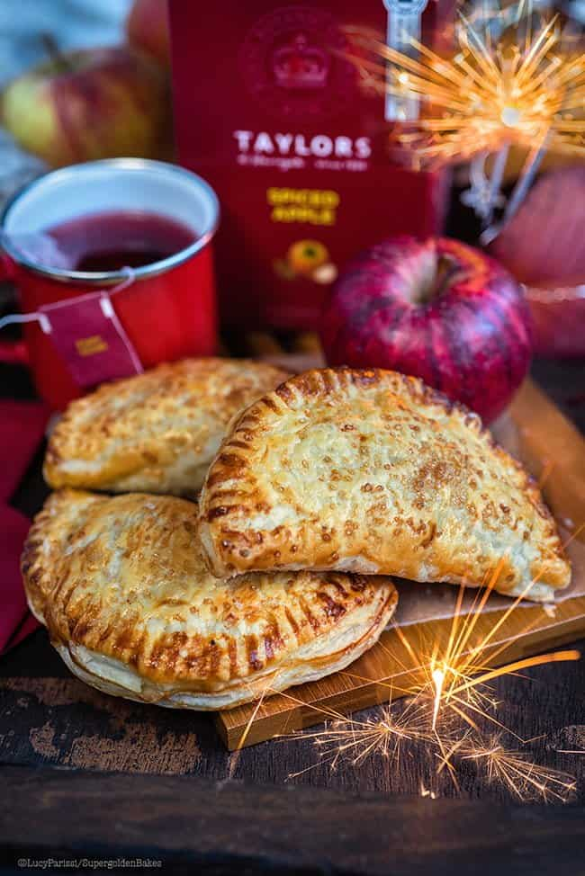 These easy spiced apple turnovers are the perfect Bonfire night snack.