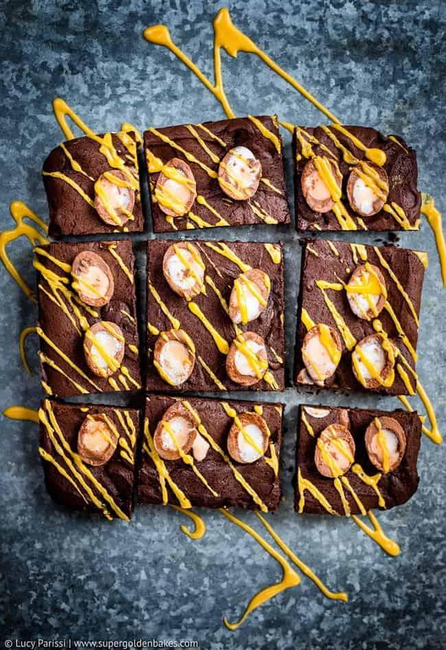 Crème Egg Brownies + video tutorial