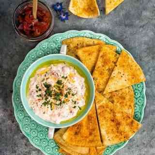 This easy dip uses only three ingredients - use the best salsa you can find or make your own!